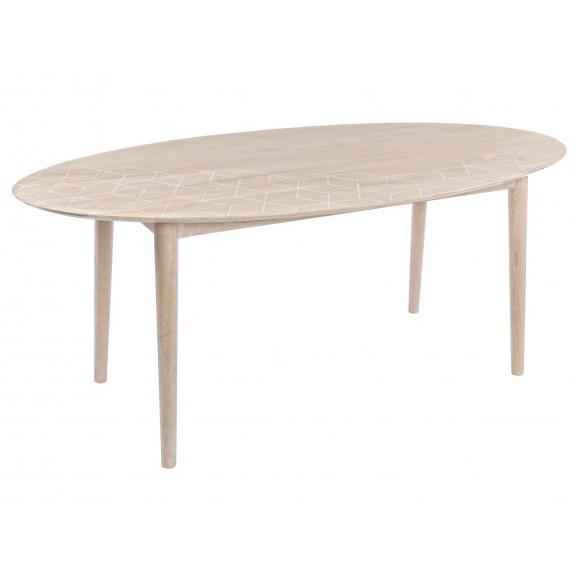 Tavolo legno naturale intarsiato Mobili etnici provenzali shabby