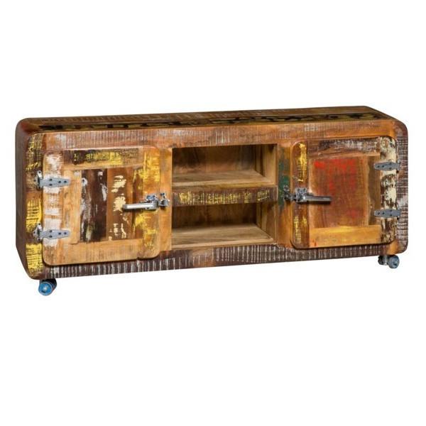Porta tv vintage multicolor mobili etnici provenzali - Mobili tv vintage ...