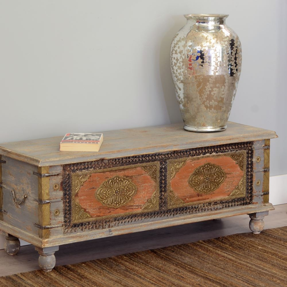 Baule legno di mango mobili industrial vintage etnici shabby chic - Mobili vintage roma ...