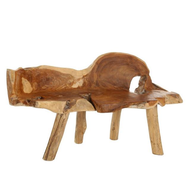 Panca in legno di radice di teak - Mobili etnici natural chic
