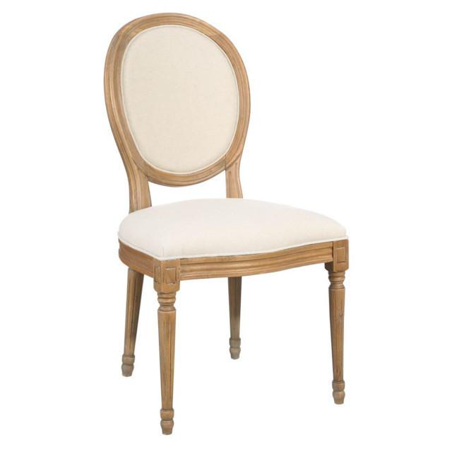 Sedia provenzale color crema lino - Mobili etnici shabby chic