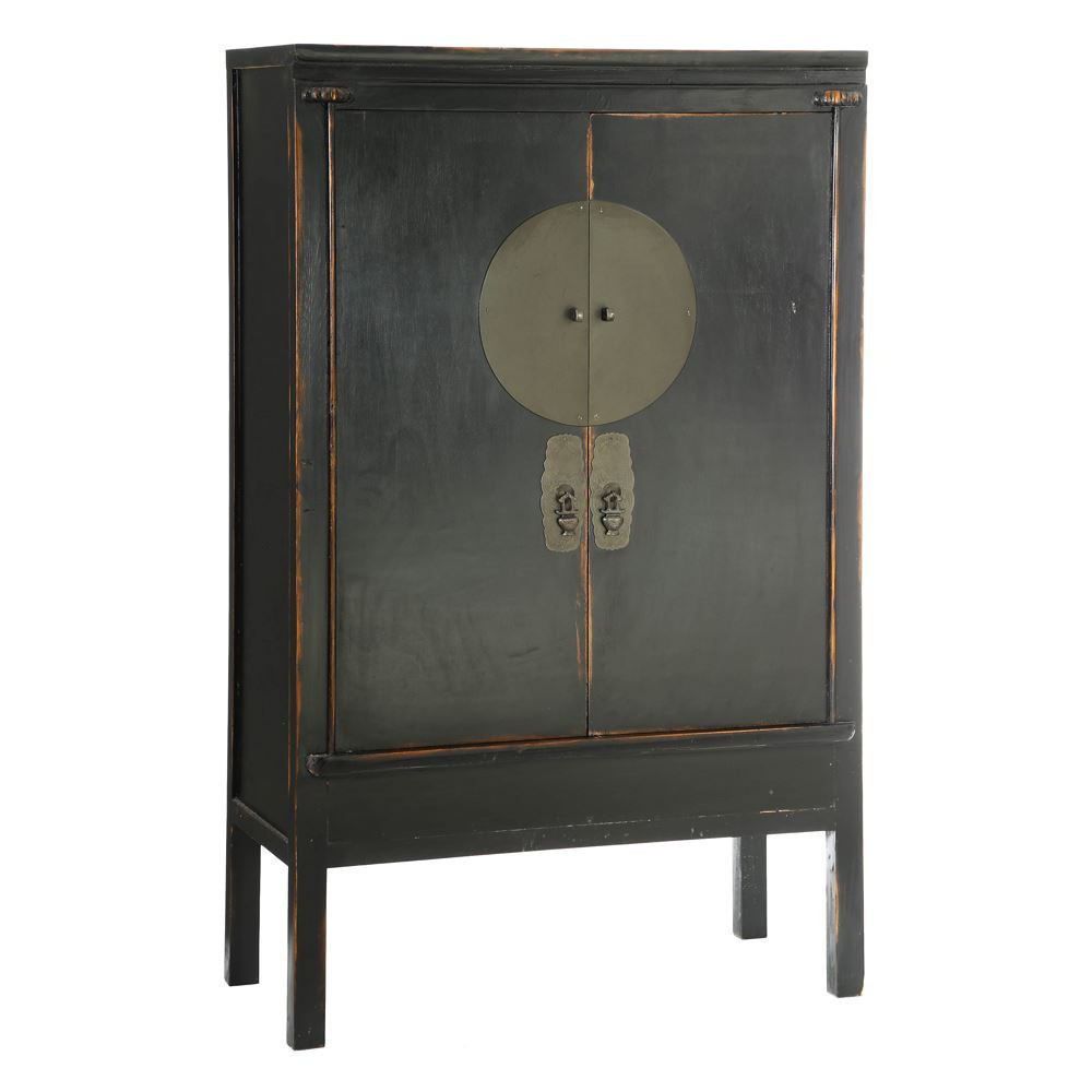 Armadio cinese shabby nero for Muebles chinos outlet