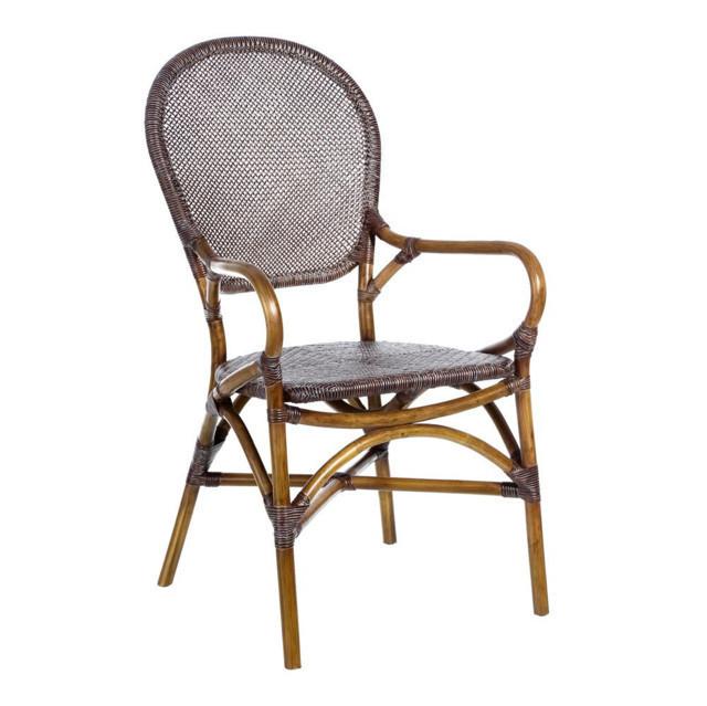 Sedia in rattan e legno mobili etnici provenzali shabby chic - Sedia in rattan ...