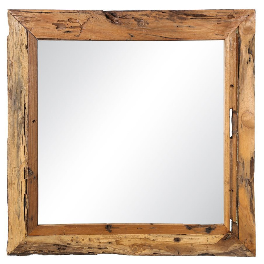 Specchio in teak naturale mobili shabby chic industrial vintage - Mobili in specchio ...
