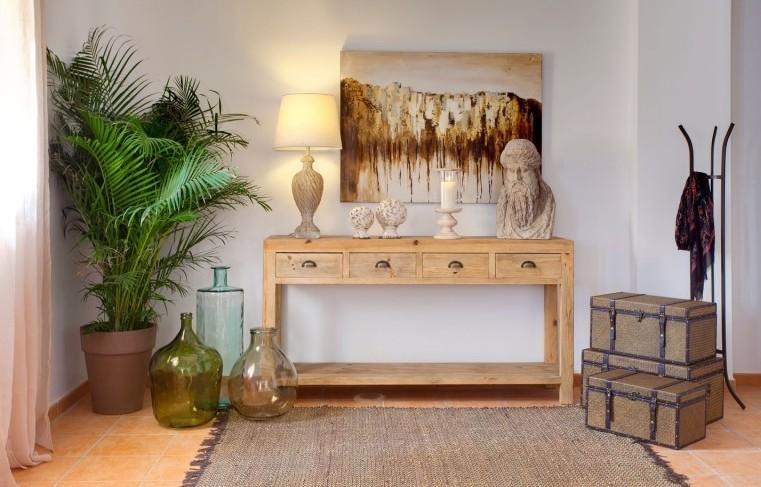Consolle legno naturale mobili etnici provenzali shabby chic - Mobili legno naturale ...