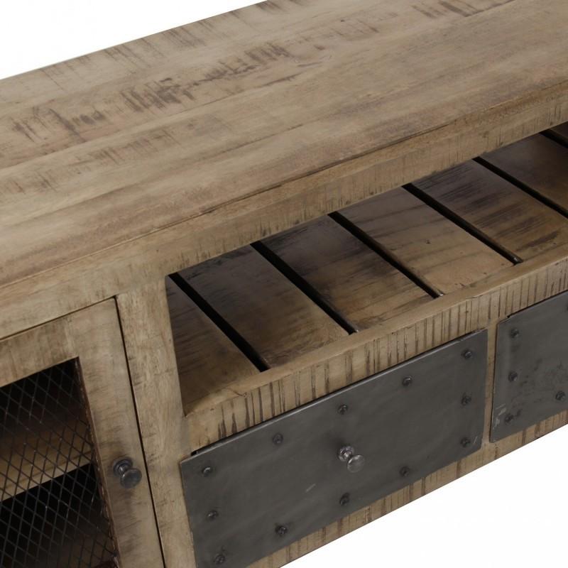 Mobile tv in legno e ferro - Mobile tv industrial ...