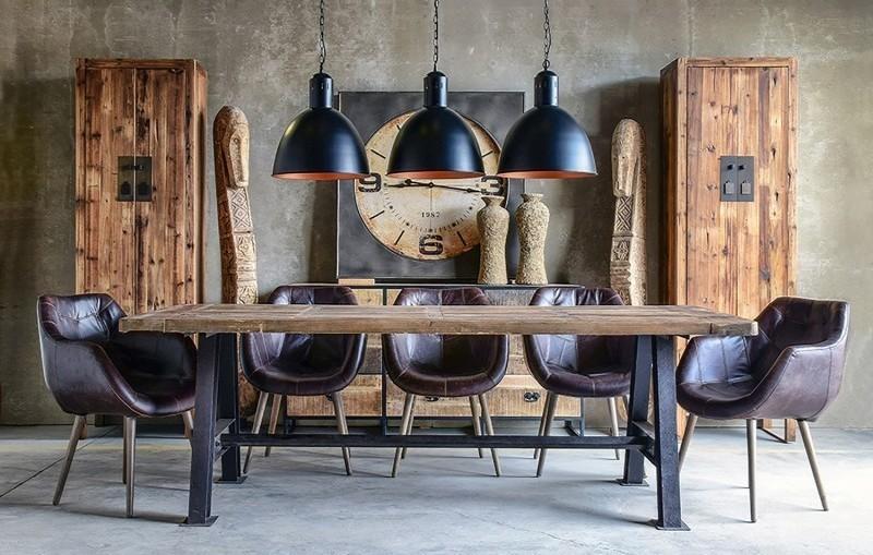 Tavolo Da Pranzo Industriale : Tavolo da pranzo industrial mobili etnici provenzali shabby chic