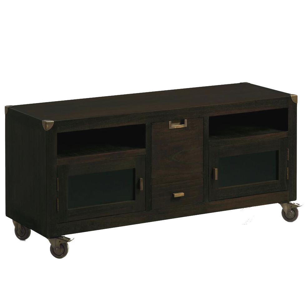 Tavolino Porta Tv Con Ruote.Porta Tv Con Ruote Industrial Living Mobili Etnici Vintage