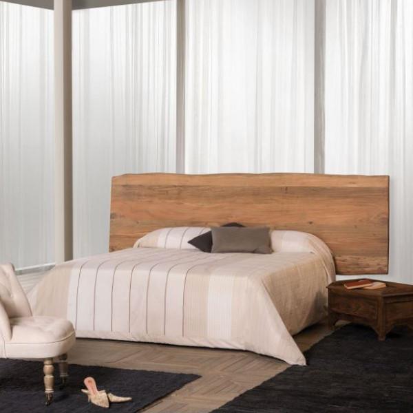Testata letto legno di sheesham massello naturale mobili etnici - Letto in legno naturale ...