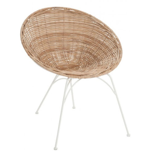 Poltroncina in rattan naturale
