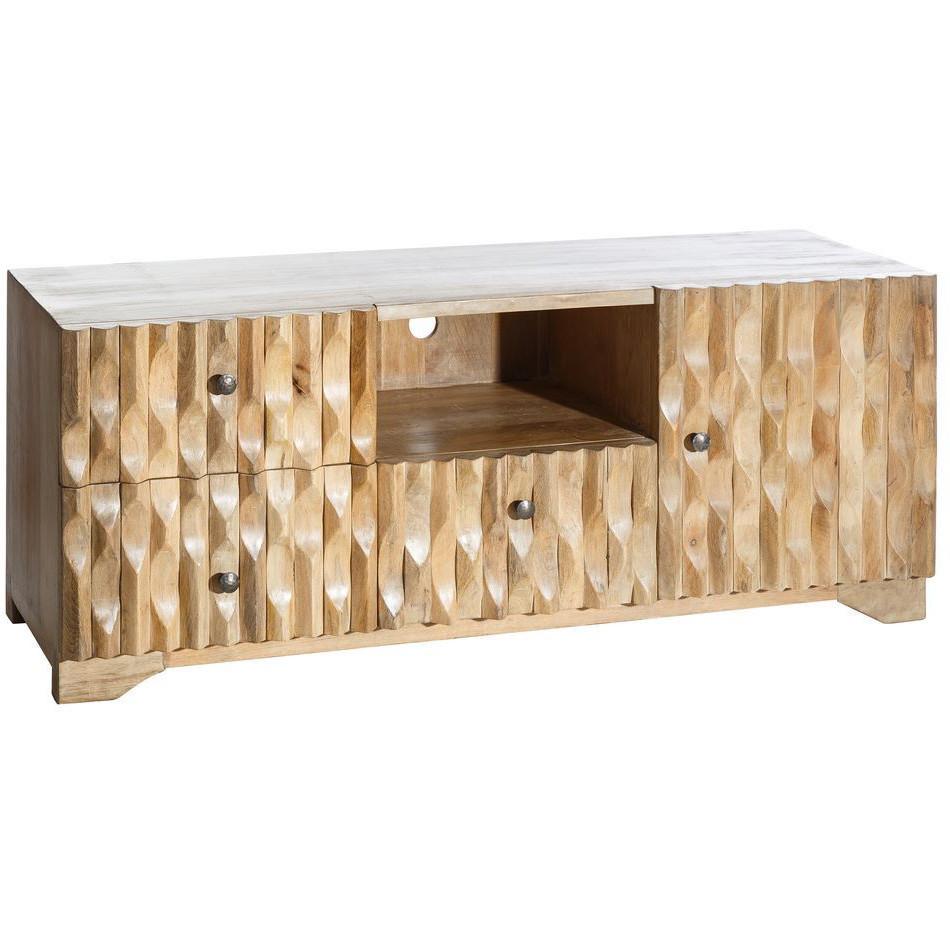 Porta tv etnico legno naturale - Porta tv legno naturale online