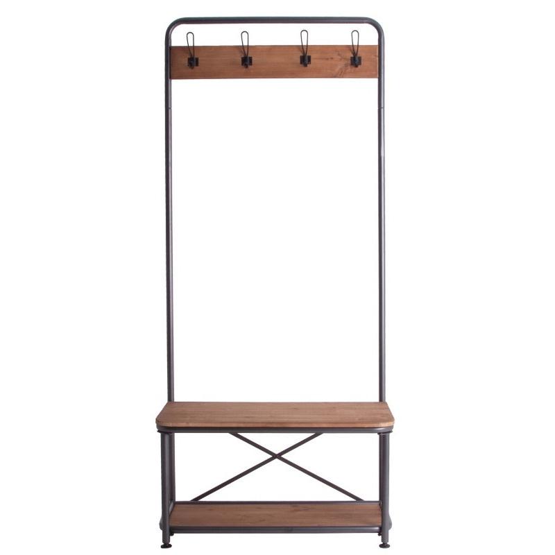 Appendiabiti industrial ferro e legno offerte mobili for Mobili industrial