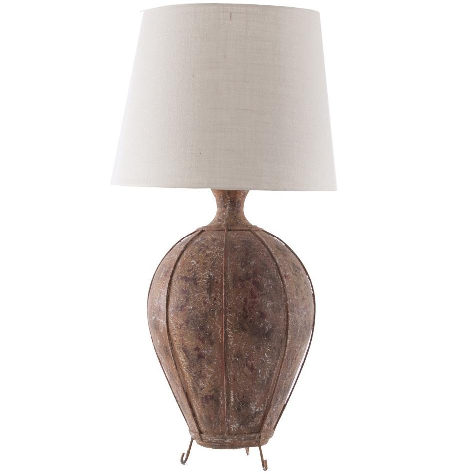 Lampada etnica base in terracotta lampade da tavolo offerte - Base lampada da tavolo ...