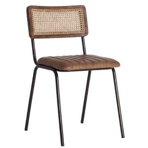 Sedie In Ferro Vintage.Sedia Vintage In Cuoio Sedie Etniche Industrial Vintage Scontate