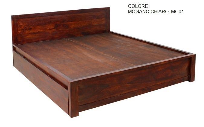 Letto legno con contenitori Mobili etnici provenzali shabby chic