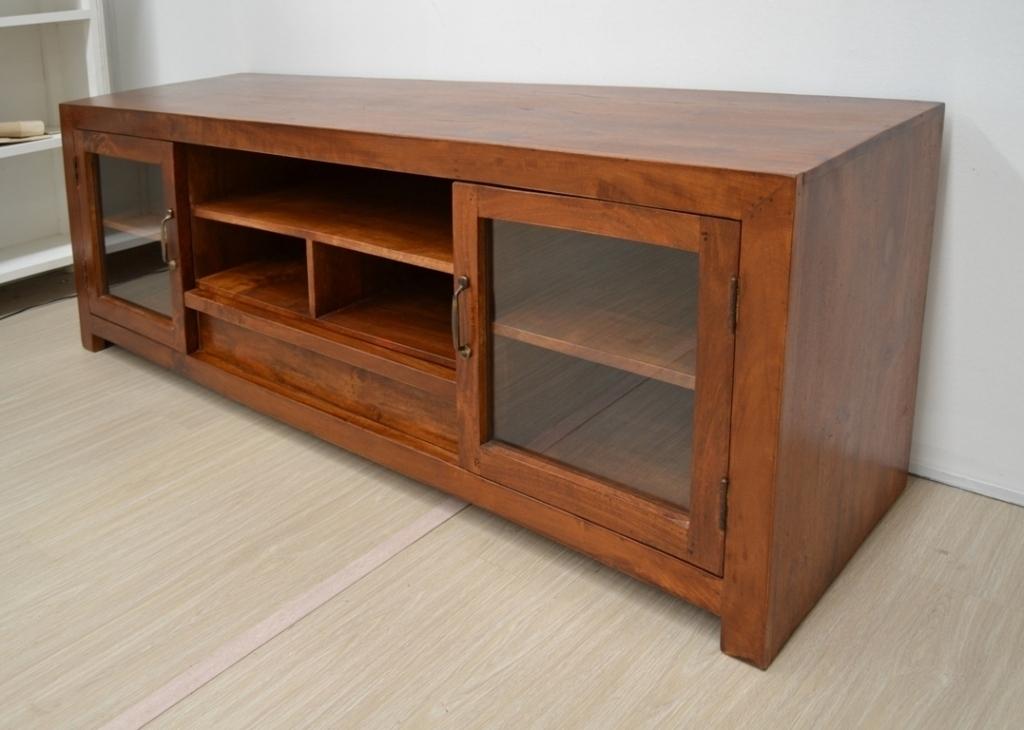 Porta tv etnico mobili industrial vintage shabby chic - Porta in legno massello ...