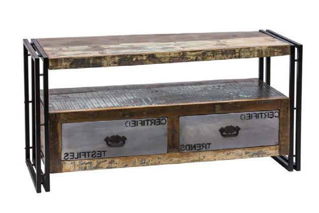 Mobili In Legno E Ferro : Mobile tv legno e ferro mobili etnici vintage industrial online
