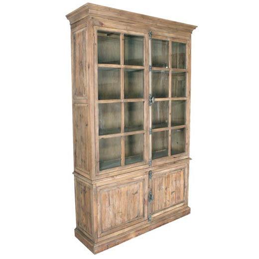 Vetrina colore legno naturale mobili provenzali shabby chic - Mobili legno naturale ...