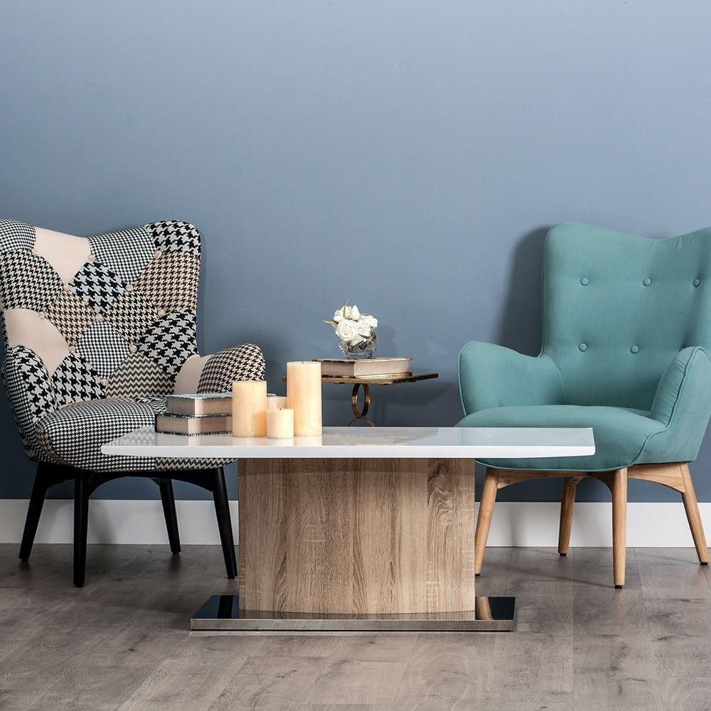 Tavolo basso moderno legno e metallo mobili moderni online for Tavolo legno metallo