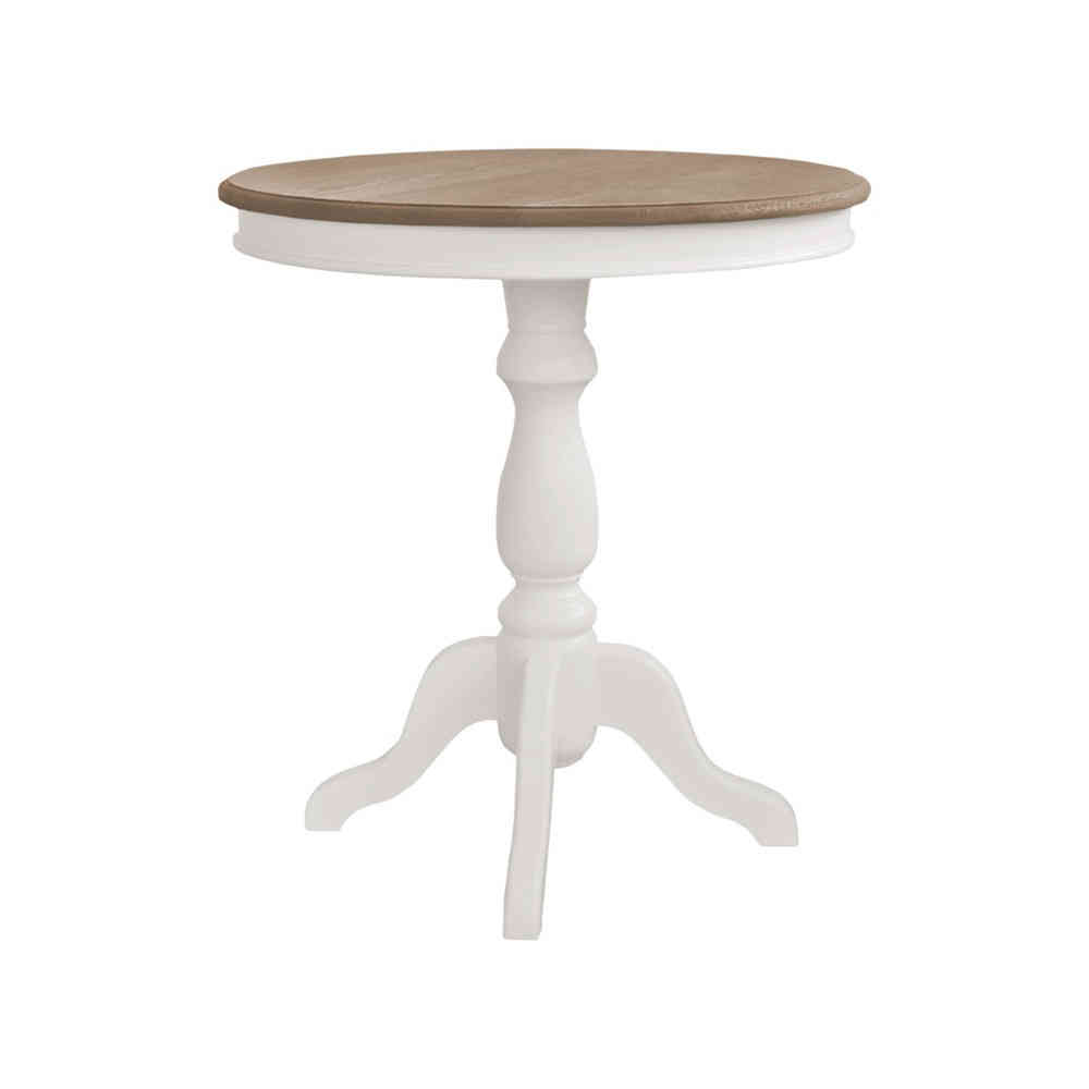 Tavolo Rotondo Legno Bianco.Tavolino Tondo Legno Bianco Tavolini Provenzali Shabby Chic