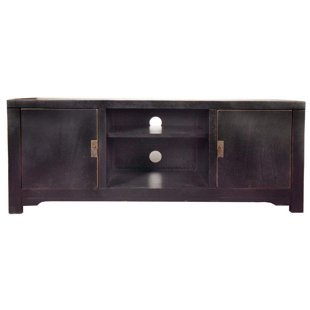 Porta tv cinese nero mobili industrial vintage shabby chic - Porta tv nero ...