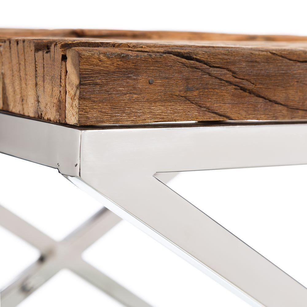 Consolle acciaio e legno mobili provenzali industrial vintage for Tavoli in legno e acciaio