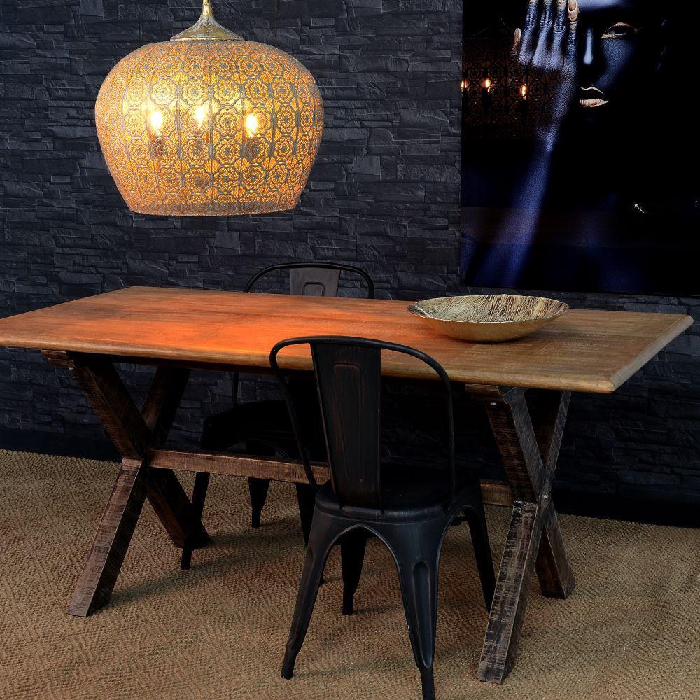 Tavolo etnico legno di mango mobili etnici provenzali for Tavolo di legno