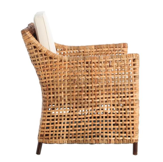 Poltrona rattan color miele mobili da giardino prezzi for Poltrone da giardino