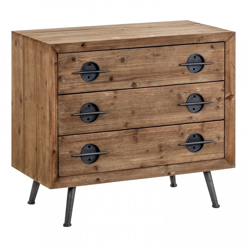 Cassettiera legno naturale mobili industrial etnici vintage shabby chic - Mobili legno naturale ...