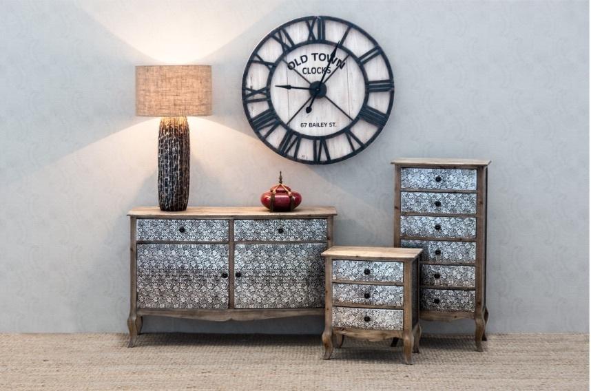 Buffet francese legno naturale offerte mobili provenzali for Mobili buffet bassi