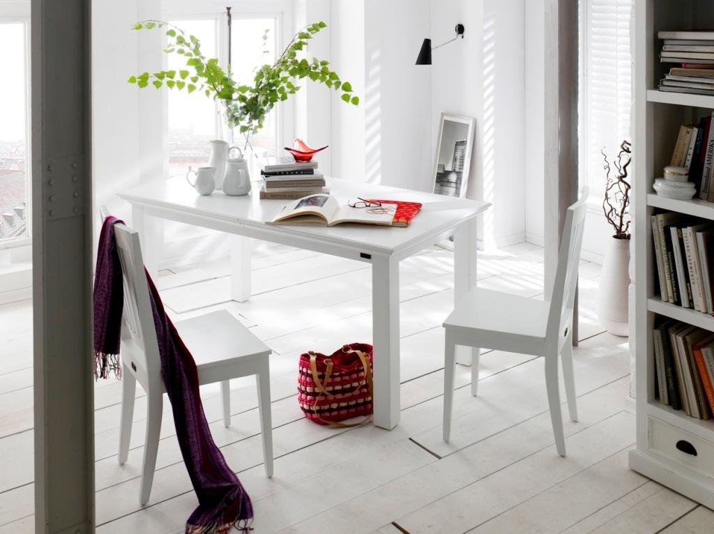 Tavolo bianco allungabile - Mobili Etnici Provenzali Shabby