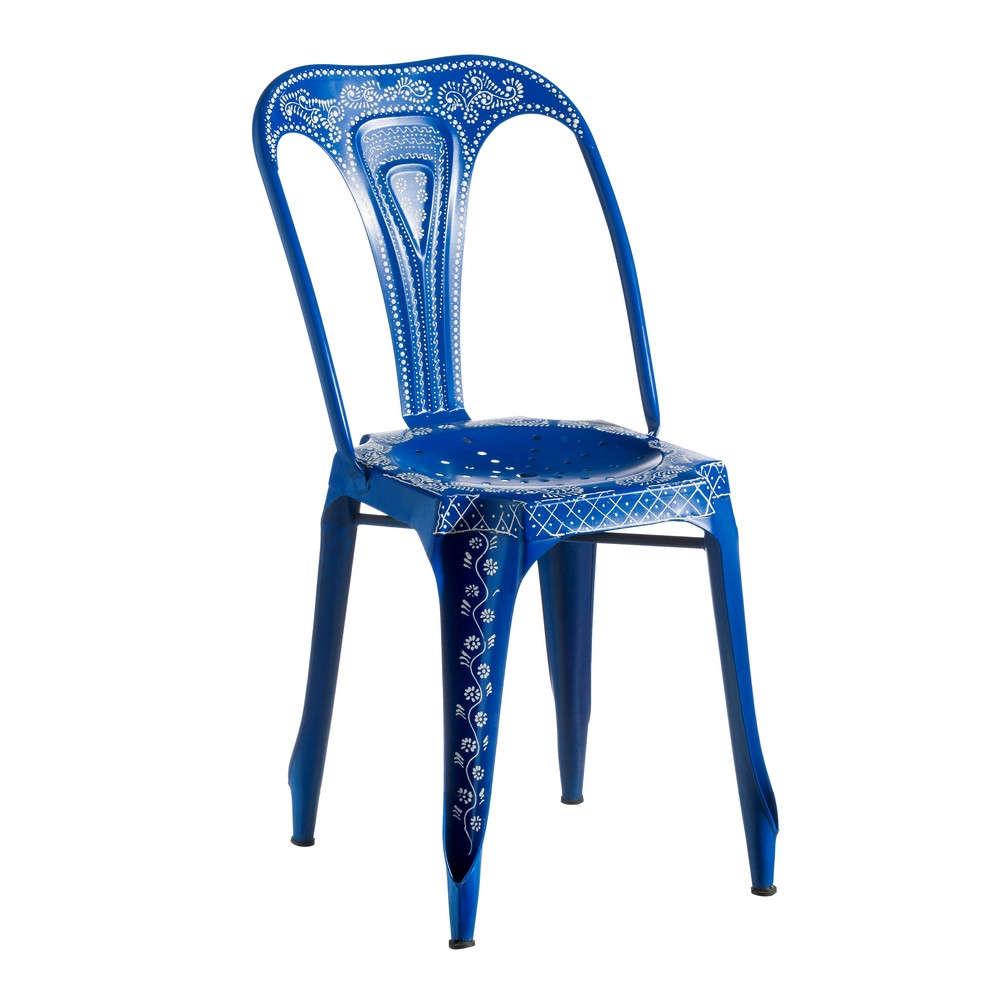 Sedia vintage in ferro blu - Sedie Stile Vintage online