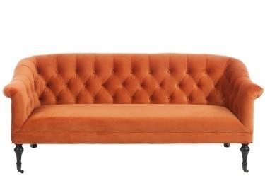 Divano capitonn arancione divani poltrone vintage provenzali - Divano arancione ...
